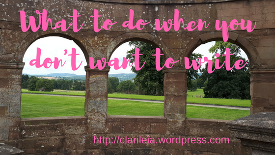 What to do when you don't want to write