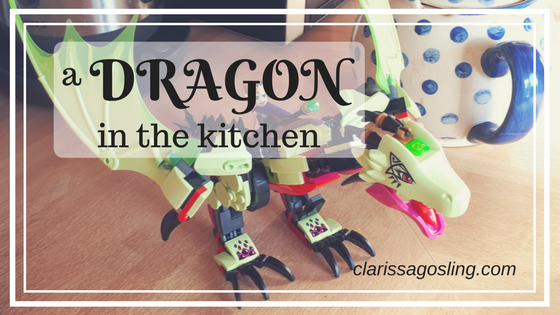 a DRAGON in the kitchen